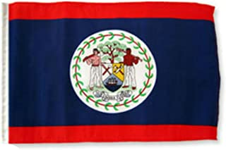 ALBATROS 12 inch x 18 inch Belize Sleeve Flag for use on Boat, Car, Garden for Home and Parades, Official Party, All Weather Indoors Outdoors