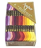 Cotton Stranded Thread skeins. Rainbow Colours Cross Stitch Threads Kit Crafts for Bracelets Floss, DIY Hair Rings, 50 Skiens, 2 shades each of 25 shades -8m
