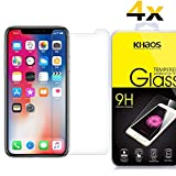 [4-Pack] Khaos for Apple iPhone X HD Clear Tempered Glass Screen Protector, with Lifetime Replacement Warranty