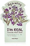 TONYMOLY I'm Real Lavender Hydrating Mask Sheet, Pack of 1