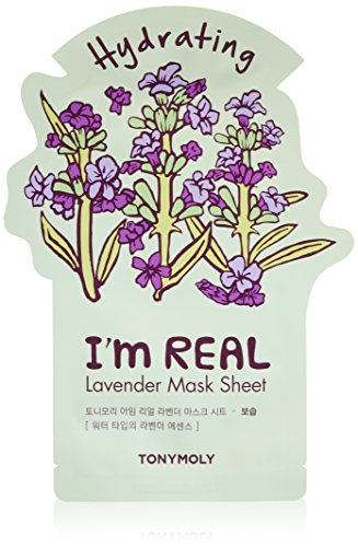 TONYMOLY I'm Real Lavender Hydrating Mask Sheet, Pack of 1