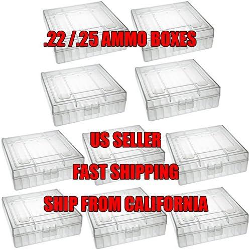 TACBRO 22 Ranking TOP5 Popular product Ammo Case 100 Round ACP .25 Box LR .22