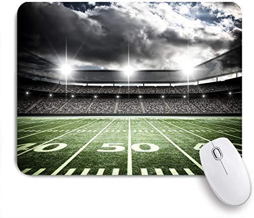 NOLOVVHA Gaming Mouse Pad Rutschfeste Gummibasis,American Football Satdium,für Computer Laptop Office Desk,240 x 200mm