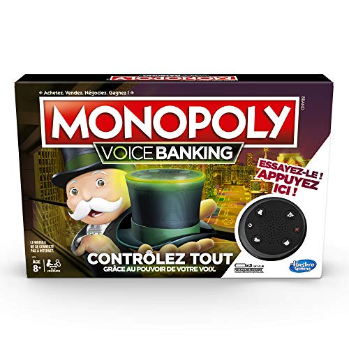 Monopoly Voice Banking - Jeu de societe Electronique - Jeu de plateau - Version française