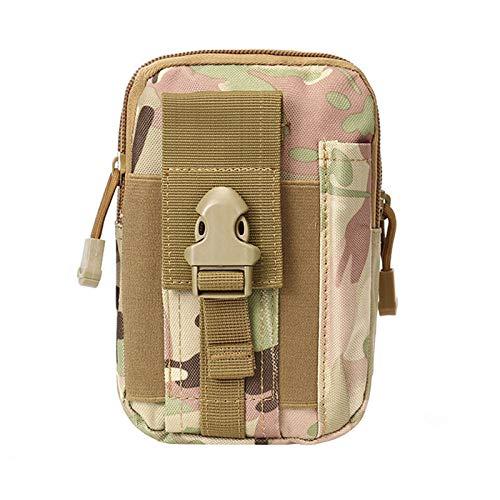 SNOWINSPRING 1Pcs Camouflage Camping Climbing Bag Canvas Hip Waist Belt Wallet Pouch