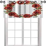 YUAZHOQI Cortina de cocina cenefa acuarela corona floral 91,4 cm de ancho x 45,7 cm de largo, decoración cenefa para cocina/sala de estar/dormitorio (1 panel)
