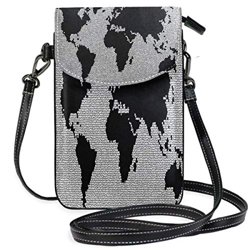 XCNGG Monedero pequeño para teléfono celular World Mosaic Stones Glass Pattern Cell Phone Purse Wallet for Women Girl Small Crossbody Purse Bags