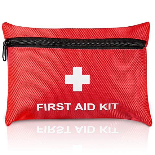TENQUAN Small First Aid Kit, 100pcs Mini First Aid Kits Compact, Lightweight Basic Supplies Ideal for Emergencies at Home Travel and Survival Situations