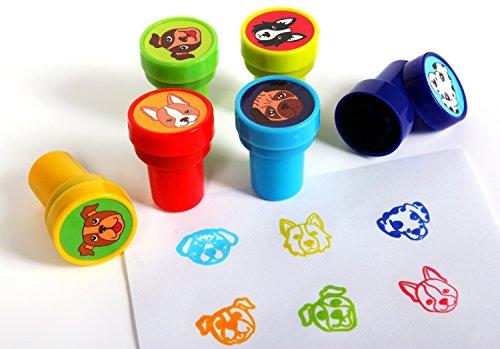 Playscene Dog Self Inking Stamps for Kids (Dog - 24 Pack)