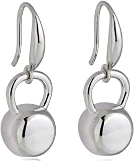 Kettlebell Earrings, Kettle Bell Earrings, Weightlifter Bodybuilder Gift, Kettlebell Charms, CrossFit Jewelry, Inspirational Gifts