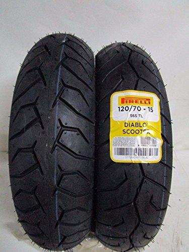 Par de neumáticos Pirelli Diablo Scooter 120/70-15 140/70-14 X-Max 125 250 300 XMAX