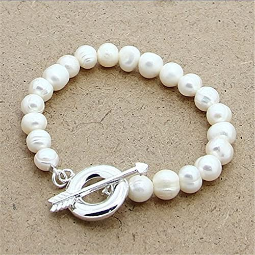 Trendy Style Max 89% OFF 925 5 ☆ popular Sterling Silver Natural Bracelets 8-9mm Pearl 2