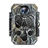 COCOCAM Fotocamera Caccia 4K 32MP Fototrappola Infrarossi Invisibili con Visione Notturna Fino a 20m, 940 nm e 45 LED Impermeabile IP66 Visualizzazione dei pulsanti con Trigger 0,2s per La Caccia