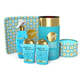 OGX Gift Set, Argan Oil of Morroco Hair Care Gift Set with Heat Protection Spray and Heat Resistant Mat