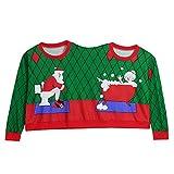 DEELIN Nouveauté de Noël Drôle Deux Personnes Laids Noël Pulls Couples Pull Tricot Blouse Top Shirt