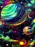 Pintura al óleo de bricolaje por números pintura acrílica de planeta abstracto sin marco para colorear por números paisaje pintado a mano regalo W6 50x65cm