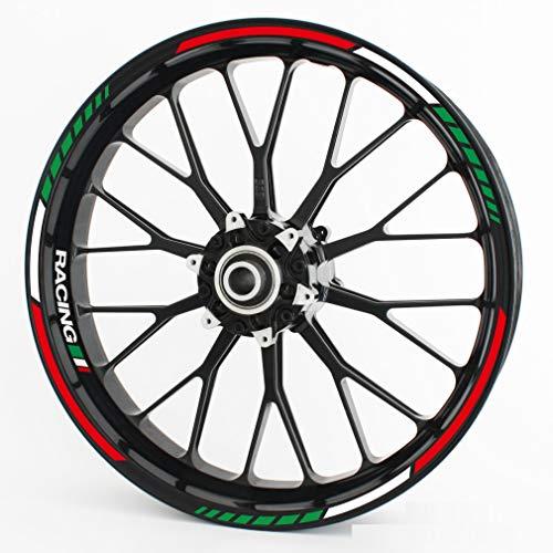 Motoking Adhesivos para Llantas RS - Italy Tricolore - Juego Completo para 15'16' 17'18' 19'