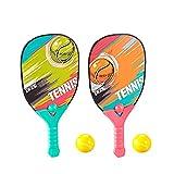 Rita665Jimmy Jeu de Raquettes de Tennis pour Enfants, Tennis de Plage Classique Juego de Paletas de, Jouet adapté aux Enfants de 3-7 Ans