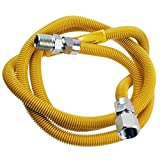 Supplying Demand 203-3132 Dryer Gas Hose With Fittings Compatible With 1/2' MIP x 1/2' FIP Hose Connections (6 Feet)