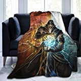 HEVANE Throw Blanket for Couch Bed, Mor-Tal KOM-Bat Mix Sub-Zero Ultra Soft Flannel Fluffy Christmas Blanket, 60'' X 50'' Washable Lightweight Baby Warm Blanket for Winter Outdoor Indoor