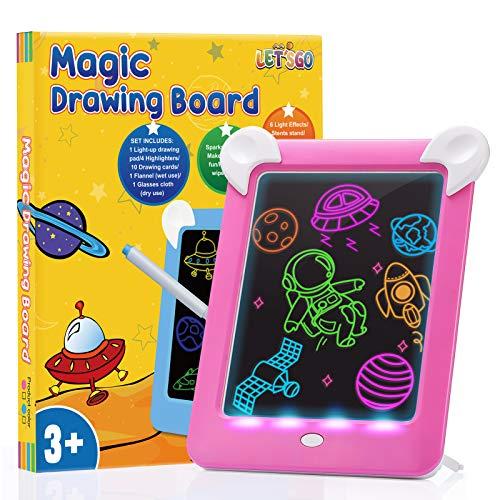 DreamToy Jouet Fille 3 4 5 6 7 8 Ans, Tableau Magique Enfant Cadeau Enfant 3-10 Ans Fille Jeux Cadeau Fille 5 6 7 8 9 10 Ans Anniversaire Jouets Éducatifs Enfants Rose