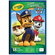 Crayola Giant Colouring Pages, Paw Patrol, Gift for Boys and Girls, Kids, Ages 3,4, 5, 6 and Up, Holiday Gifting, Travel, Arts and Crafts,  Gifting