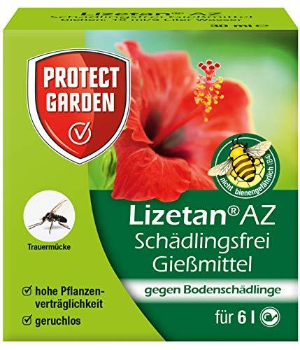 PROTECT GARDEN Lizetan AZ Schädlingsfrei Gießmittel (ehem. Bayer Garten), gegen die Larven der Trauermücken und andere Bodenschädlinge an Zimmer- und Balkonpflanzen, 30 ml