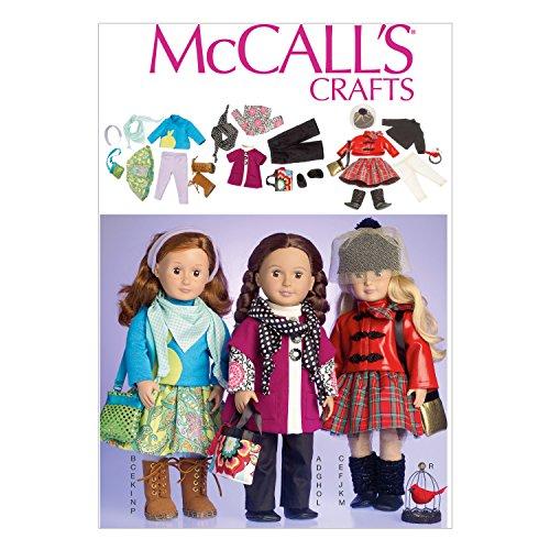 Patterns di McCall McCalls Modello MC7006 OSZ e Le Istruzioni per la Bambola Cucito Vestiti 548,64 cm