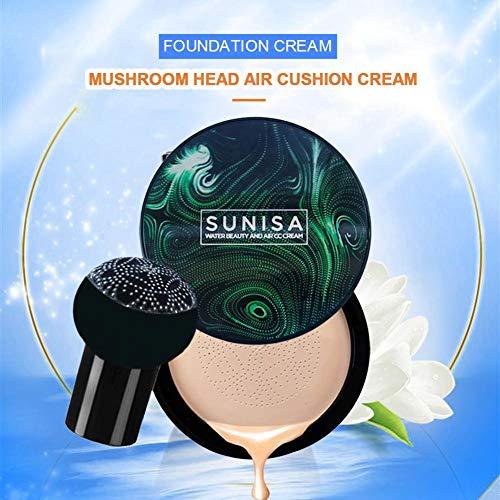 AIMERKUP Foundation Makeup Small Mushroom Head Air Cushion Cream BB Facial Concealer Anti-Wrinkle Oil Control Moisturizing Long Lasting Moisturizing Shine Welcoming