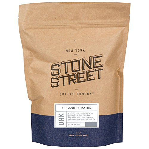 DARK SUMATRA ORGANIC Fair Trade Coffee | Whole Beans | 1 Lb Bag | Rich/Bold Dark Roasted | Single Origin | Premium Quality & Taste