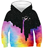 Imbry Boys Girls 3D Printed Hoodie for Kids Animal Hooded Pullover Sweatshirt(M,Painting 3)