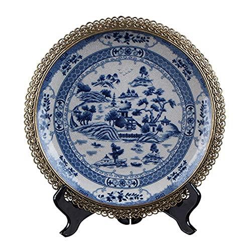 Household items Mittelalterliche Klassische Dekorationen, antike Blaue und weiße Porzellan-Dekorationsplatten, Hauptdekorations-Sammlung Keramikplatten-Dekorationen, Plattendekorationen