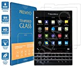 PREMYO 2 Piezas Cristal Templado Protector de Pantalla Compatible con Blackberry Passport Dureza 9H Bordes 2,5D Sin Burbujas contra Arañazos