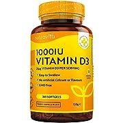 Vitamin D 1000 IU (25μg) – 365 VIT D Softgel Capsules Full Year Supply – for Maintenance of Healthy Immune System, Muscles, Bones & Teeth – Vitamin D3 Cholecalciferol – Made in The UK by Nutravita