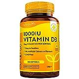 Vitamina D3 1000 IU - 365 Gel Capsula - Fornitura Per Un Anno - Integratore In Pillole Di Vitamina D Colecalciferolo Mantiene Sani Ossa, Denti, e Articolazioni Muscolari - Prodotto Da Nutravita
