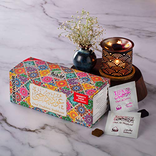 Dukhni Oud Bakhoor Incense Variety Box (20 Pieces) & Rainbow Exotic Bakhoor...