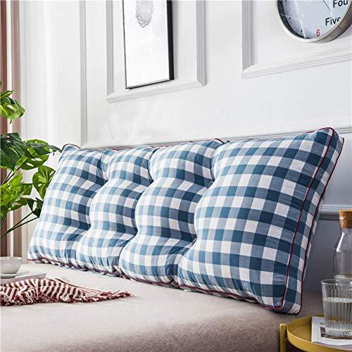 NUBAO Kopfteil-Kissen für Bett, rechteckig, waschbar, Dekoration, gepolstert, ergonomisches Design, Rückenlehne, Nackenrolle, Lesekissen, 120 x 20 x 50 cm