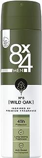 8X4 Men N°8 Wild Oak antyperspirant w sprayu (150 ml), dezodorant, męski zapach drzewny, dezodorant w sprayu z 48h ochroną