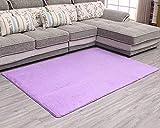Alfombra Shaggy de Pelo Corto Soft Antideslizante Sala de Estar Sofá o Dormitorio Alfombras Suaves Alfombra del Piso Violeta Claro 120 * 200cm