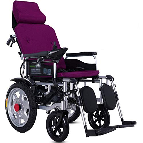 FC-LY Heavy Duty Electric Wheelchair with Headrest, Folding and Lightweight...