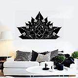 zqyjhkou Budismo Yoga Pegatinas Vinilo Tatuajes de Pared Flor de Loto Ornamento Fondos de Pantalla Arte Decoración para el hogar Diseño único Medio 67x42cm