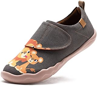 cf7a2d8bdd3 UIN Kid s Sweet Lion Travel Canvas Loafer Shoe Grey (Big ...
