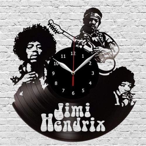 Jimi Hendrix - Reloj de pared, diseño vintage hecho a mano