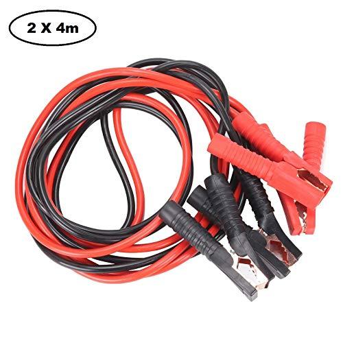 JUEYAN® 2x4m Cables de Arranque para Batería de Coche 2000 Amp Arrancadores de Coche Cable de Refuerzo Cables Puente para AutoMóvil Cable de Batería Pinza de Cocodrilo