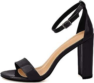 Women's High Chunky Block Heel Pump Dress Sandals