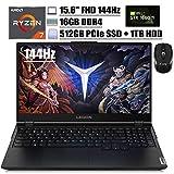 2020 Flagship Lenovo Legion 5 Gaming Laptop 15.6' FHD 144Hz AMD Octa-Core Ryzen 7 4800H (Beats I7-9750H) 16GB DDR4 512GB PCIe SSD 1TB HDD GTX 1660Ti 6G Backlit Webcam Win 10 + iCarp Wireless Mouse