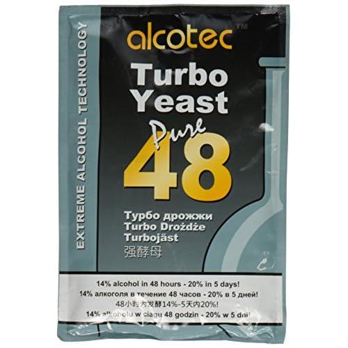 Alcotec, Turbo Yeast, lievito da 48ore, 20% in 5giorni, 1 confezione