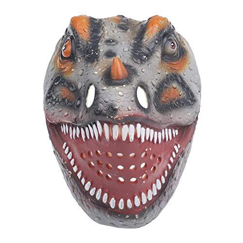 Dinosaurus masker, levensechte cosplay maskers volwassen speelgoed kinderen geschenken voor Halloween kostuum partij decor (grijs)