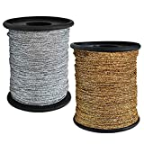 Embroiderymaterial Metallic Glitter Dori Thread Cord for Embroidery & Jewelry Making Combo of Gold and Silver Color(2Rolls) 250 Meter of Thread/Roll