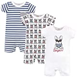 Hudson Baby Unisex Cotton Romperss, French Dog, 0-3 Months